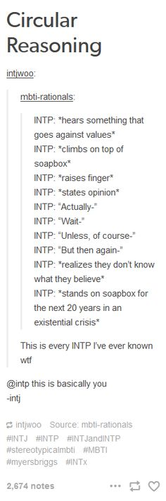 No but this is so interesting because my INTP expects me to have this approach when my morals are challenged but as an INFJ I am much more attached to my standards.