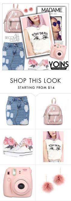 """Yoins15: Cute"" by shambala-379 on Polyvore featuring Converse, Fujifilm, Tuleste, cute and yoins"