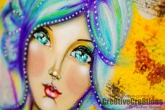 {Faber Castell – Design Memory Craft – Guest Designteam Work #6} FACEcinating Girls Mixed Media Painting