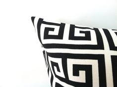 Black & White Pillow Cover  16 x 16 One Geometric by PillowStyles