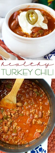 Healthy Turkey Chili that is hearty, warming, and super delicious!