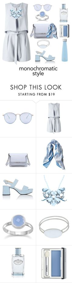 """Easy Classic Style"" by shamrockclover ❤ liked on Polyvore featuring Ray-Ban, Miss Selfridge, Asprey, Prada, Ek Thongprasert, Tiffany & Co., Clinique and S'well"