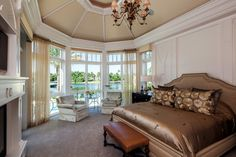 Bay Window Bedroom Design Ideas, Pictures, Remodel and Decor