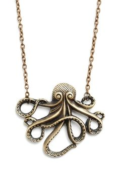 My Pet Octopus Necklace | Mod Retro Vintage Necklaces | ModCloth.com - StyleSays