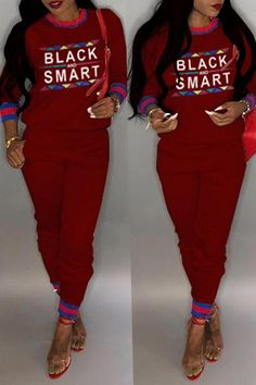 76ef668d354e Shyfull Casual Patchwork Printed Two-piece Pants Set