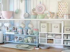 Shabby kitchen storage in perfect pastel shades A Stunning Shabby German Home