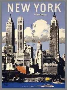 Mixed Media - Aer Lingus - Irish International Airlines - New York - Retro Travel Poster - Vintage Poster by Studio Grafiikka , Retro Airline, Airline Travel, Travel And Tourism, Vintage Airline, Air Travel, Travel Guide, New York Poster, Vintage New York, Vintage Art