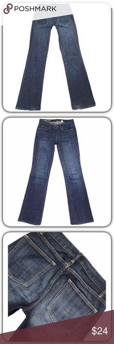 """J. CREW """"Stretch"""" Dark SZ 26R Boot Cut Blue Jeans J. CREW """"Stretch"""" Dark*SZ 26R*Boot Cut Low Blue Jeans*Inseam 33"""" J. Crew Jeans Boot Cut"""