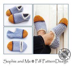 Chunky Tube Sock Slippers crochet pattern.