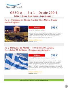 GRECIA ---2 x 1---Desde 299 € Salida 01 Marzo desde Madrid--Cupos Aegean---desde ultimo minuto - http://zocotours.com/grecia-2-x-1-desde-299-e-salida-01-marzo-desde-madrid-cupos-aegean-desde-ultimo-minuto/