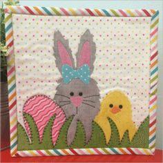 Easter Mug Rug Printed Patern