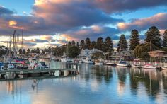 Port Fairy, Australia - I doubt if I'll ever get to travel there, but this picture of the harbor is one of the most restful, serene and beautiful pictures - very calming, so I just had to include it.