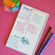 Do it yourself pregnancy and baby journal baby stuff pinterest how my pregnancy bullet journal cured my mommy brain solutioingenieria Gallery