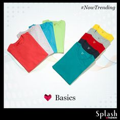Infuse colours in wardrobe with the basic Splash shades. #Splash #Fashion #Basic #Colour #SplashIndia