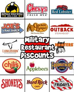 Military Discounts at popular restaurants - save a buck or two! #MilitarySavesWeek