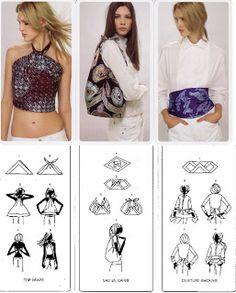 Cómo colocar pañuelos by Hermès