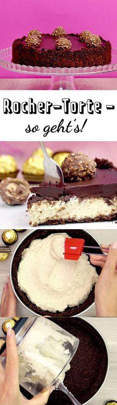 Rocher-Torte ist der Star auf jeder Kaffeetafel. Wie du die no-bake-Torte mit der geliebten Schoko-Haselnuss-Praline zuhause selber machst, erfährst du hier.