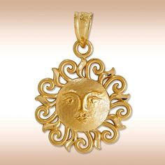 Love the rays on this sun pendant.