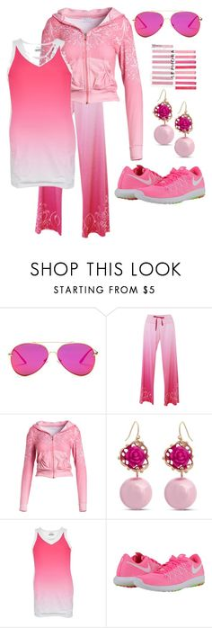 """50 Shades of Pink"" by staci-6 ❤ liked on Polyvore featuring AQS by Aquaswiss, Erica Lyons, Sephora Collection, Fila and NIKE"