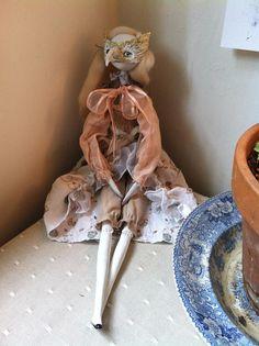 Ooak art doll..masked girl...Trudy