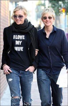 Ellen Degeneres & wife, http://www.ninaohmanarts.com