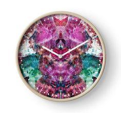 Eudialyte Clock by lightningseeds® for crystalapertures.rocks.