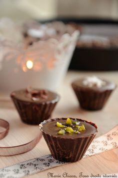 Coques chocolat fourrées ganache divers parfums
