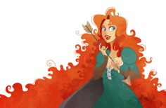 Pixar Disney Rebelle Merida Wistful