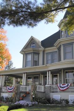 "as seen in ""Groundhog Day"".Woodstock, IL Royal Victorian Manor Inn 344 Fremont Street Woodstock, IL 60098 US  Victorian Manor, Fremont Street, Groundhog Day, Filming Locations, Woodstock, To Go, Adventure, Mansions, House Styles"