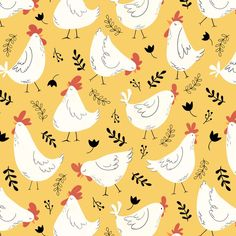 Lovely Little Hens Throw Pillow by Aishwarya Vohra - Cover x with pillow insert - Indoor Chicken Illustration, Pattern Illustration, Cupcake Halloween Costumes, Chicken Wallpaper, Little Hen, Chicken Pattern, Hello To Myself, Chickens And Roosters, Stuffed Animal Patterns
