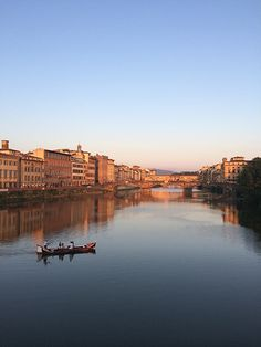 Firenze, looking towards the Ponte Vecchio. Sunset, July 2014...
