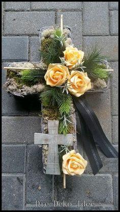 Church Flowers, Funeral Flowers, Funeral Floral Arrangements, Flower Arrangements, Flower Centerpieces, Flower Decorations, Funeral Caskets, Casket Flowers, Cemetery Decorations