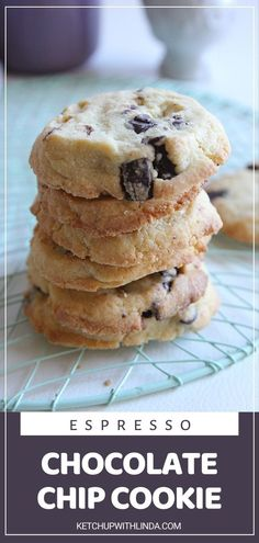 An easy breakfast idea that will impress the family! Espresso Chocolate Chip Cookies are a winner. The addition of espresso sets these cookies apart from others for a sweet way to get your caffeine fix. Serve them warm and enjoy those ooey gooey melty chocolate chunks!