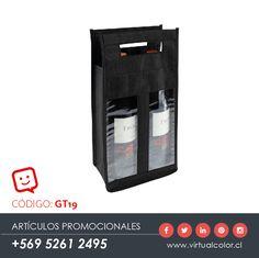 Artículos Promocionales - Productos Publicitarios - Eco Wine Bag x 2