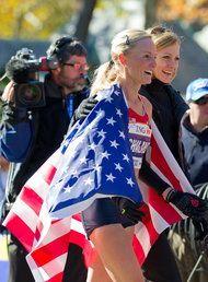 Shalane Flanagan at the 2010 New York City Marathon.