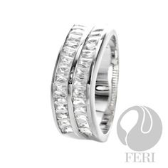 Global Wealth Trade Corporation - FERI Designer Lines Love Ring, Baileys, Sterling Silver Jewelry, Jewlery, Bling, Display, Engagement Rings, Gemstones, Bridal Collection