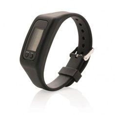 Stappenteller armband, zwart