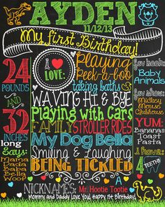 Dinosaur 1st Birthday Chalkboard Poster for by CustomChalkPosters
