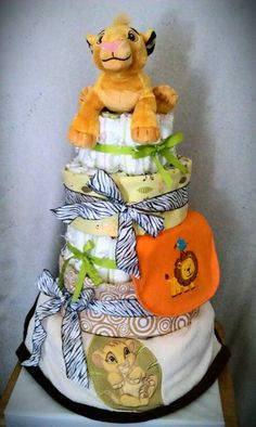 Lion King Diaper Cake My Diaper Cakes Baby Shower
