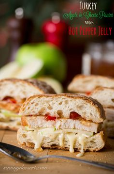 Turkey Apple & Cheese Panini with Hot Pepper Jelly