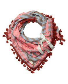 Square bandana scarf with fringes