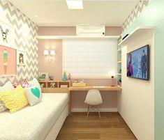 Decoração quarto menina | Que amor esse quarto de menina as cores estão lindas: rosa antigo turquesa branco e cinza. Lovely! {Projeto: Marilia Zirmmermman} #quartomenina #girlsroomdecor #girlsroom