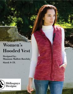 Women's Hooded Vest Digital Crochet Pattern - Shibaguyz Designz | sizes up to 3X, makes a great layering piece!