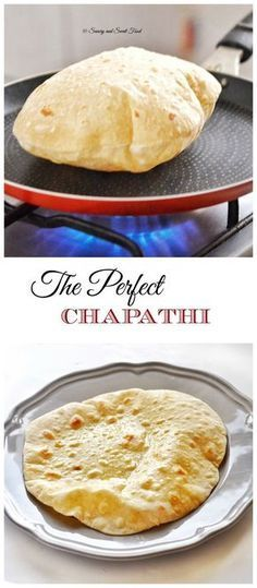 A very soft and puffed up Indian flat bread, Chapathi. Serve with Indian curry, main dishes or even use it to make sandwich wraps.