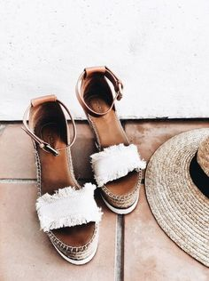 SEE BY CHLOE Canvas and leather espadrilles wedge sandals Crazy Shoes, Me Too Shoes, Daily Shoes, Look Fashion, Fashion Shoes, Face Fashion, Diva Fashion, Fashion Hair, Fashion Models