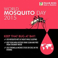 Say no to #Malaria and #Dengue! Make sure your home is safe from Mosquitoes! #WorldMosquitoDay2015 20th August!