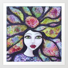'Find Your feathers & Fly' ~ reproduction of Original Mixed Media painting by Tanya Cole