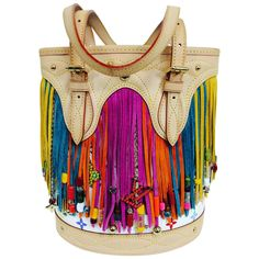 dbd11d2ee477d Louis Vuitton Multicolore Fringe Bucket Bag designed by Takashi Murakami  2006