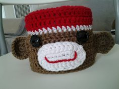 Sock Monkey Toilet Tissue Cover on Etsy, $8.00
