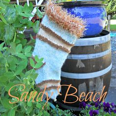 Sandy Beach Knit stocking. Love the colors!